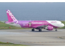 "A320 Peach ""Kawaii"" JA808P"