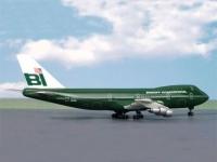 Boeing 747-100 Braniff green