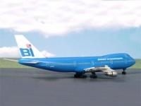 Boeing 747-100 Braniff blue
