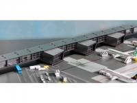 Amsterdam Airport Pier G Corridor & Pier H (Länge Pier G 37,5 cm, Länge Pier H 46,5 cm)