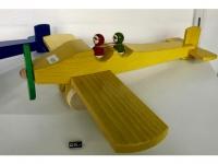 """Holzflugzeug - Spielzeug """"Charles"""" Gelb"""