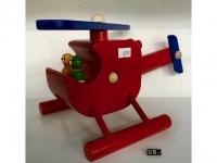"Holz-Helikopter - Spielzeug ""David"" Rot"