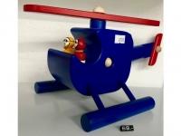 "Holz-Helikopter - Spielzeug ""David"" Blau"