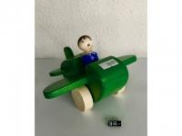 """Holzflugzeug - Spielzeug """"Maja"""" Grün"""