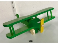 Holz-Helikopter - Spielzeug Doppeldecker Grün