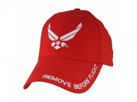 "Red Baseball Cap USAF ""Remove Before Flight"
