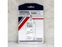 Original Aircraft Skin - Aviationtag Weiss - Air France A340 F-GLZI