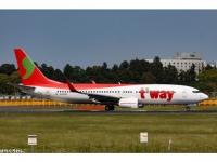 Boeing 737-800 T'way HL8000
