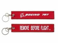 """Schlüsslanhänger """"Remove Before Flight / Boeing 787"""""""