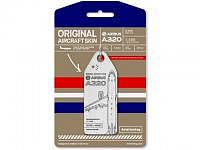 Original Aircraft Skin - Aviationtag - A320 - white/red