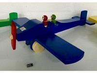 """Holzflugzeug - Spielzeug """"Charles"""" Blau"""
