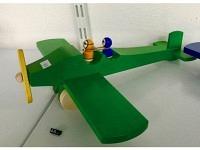 """Holzflugzeug - Spielzeug """"Charles"""" Grün"""