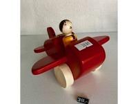 """Holzflugzeug - Spielzeug """"Maja"""" Rot"""
