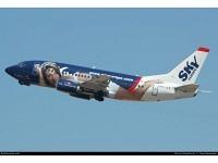 """Boeing 737-500 SkyEurope """"Miss Europe 2003"""" Airlines HA-LKO"""
