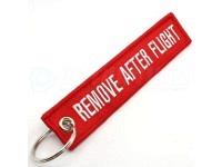 """Schlüsselanhänger """"REMOVE AFTER FLIGHT"""" A380 rot"""