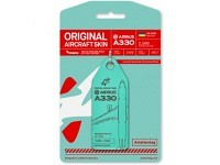 "Aviationtag - A330 Wind Rose UR-WRQ ""Mint"""