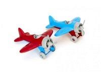 Flugzeug aus Kunststoff Rot/Blau