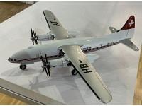 """Turboliner """"Escher Wyss"""" 1945, HB-ATL, Swissair, weiss (Projektskizze umgesetzt)"""
