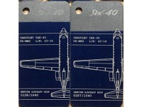 Fuselage Creations Tag - Yak-40 Bicolor Bluesilver