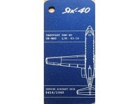 Fuselage Creations Tag - Yak-40 Blue Matt