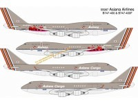 Boeing 747-400 HL7423 + -400F HL7436 Asiana/Asiana Cargo